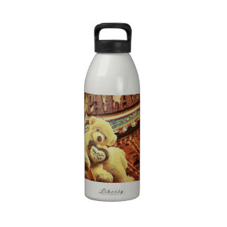 Cute Teddy Bears at the Carnival Water Bottle