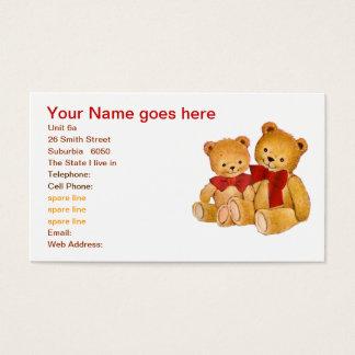 Cute Teddy Bears Business Card