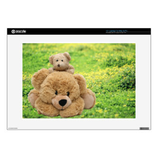 """Cute Teddy Bears In A Meadow Decal For 15"""" Laptop"""
