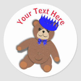 Cute Teddy Bears Picnic Fun Kids Birthday Party Classic Round Sticker