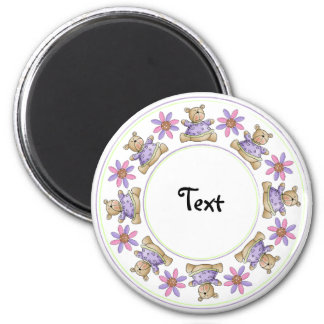 Cute teddy design border magnet