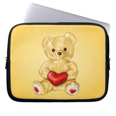 Cute Teddy Hypnotist 10in Laptop Computer Sleeve
