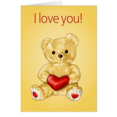 Cute Teddy Hypnotist Valentine Greeting Card