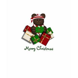 Cute Teddy Merry Christmas Tshirt shirt