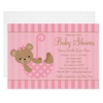 Cute Teddy   Pink Card