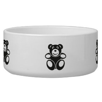 Cute Teddy with a Smile Bowl