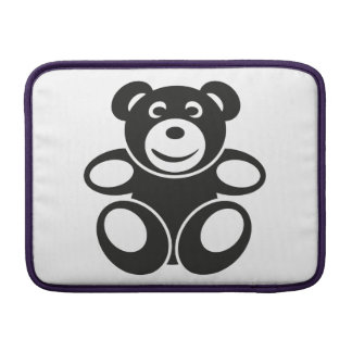 Cute Teddy with a Smile MacBook Sleeve