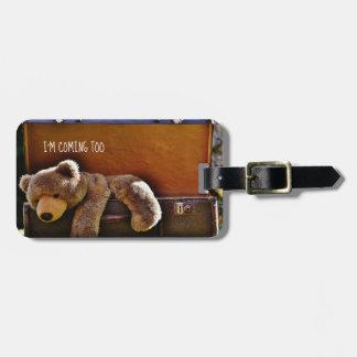 Cute TeddyBear Personalized Luggage TAG