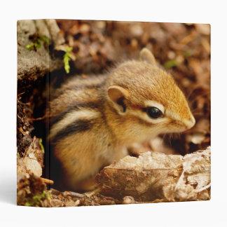 "Cute Teeny Baby Chipmunk 1.5"" Photo Album 3 Ring Binder"