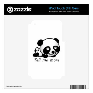 Cute Tell me more Panda iPod Touch 4G Skin