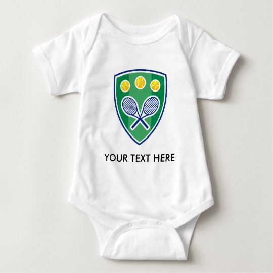 Cute tennis baby bodysuit. Add name or quotes Baby Bodysuit