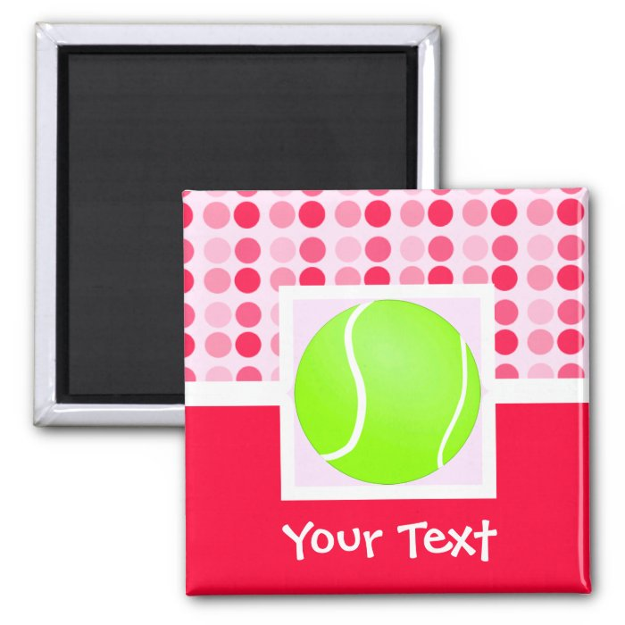 Cute Tennis Ball 2 Inch Square Magnet