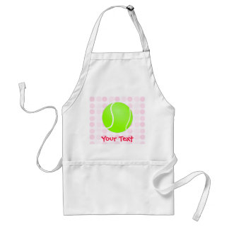 Cute Tennis Ball Adult Apron