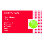 Cute Tennis Ball Double-Sided Standard Business Cards (Pack Of 100)