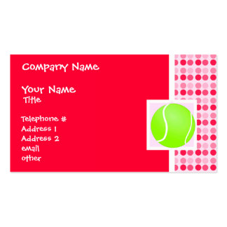 Cute Tennis Ball Business Cards