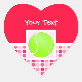 Cute Tennis Ball Heart Sticker