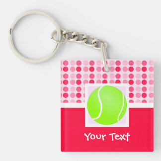 Cute Tennis Ball Double-Sided Square Acrylic Keychain