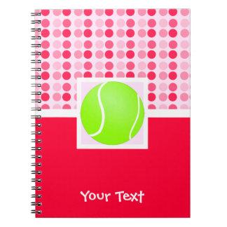 Cute Tennis Ball Spiral Notebook