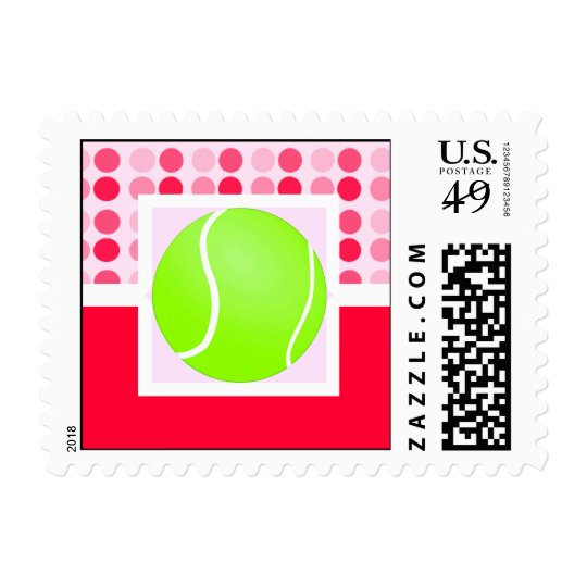 Cute Tennis Ball Postage