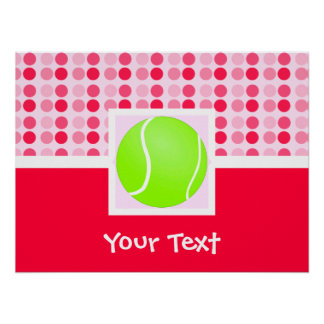 Cute Tennis Ball Poster