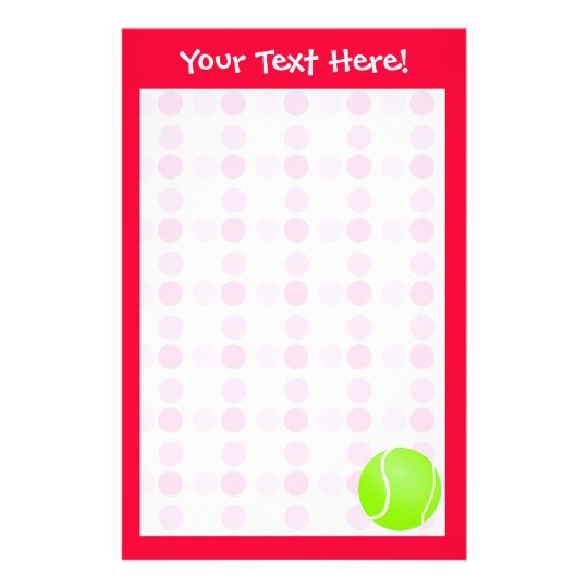 Cute Tennis Ball Stationery
