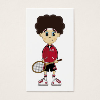 Cute Tennis Boy Bookmark Business Card