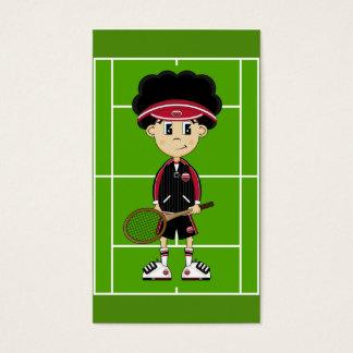 Cute Tennis Boy Bookmark Business Card