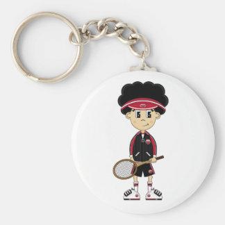 Cute Tennis Boy Keychain