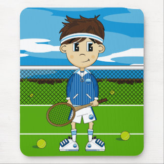 Cute Tennis Boy Mousepad