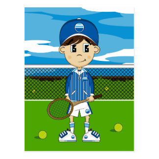 Cute Tennis Boy Postcard