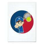 Cute Tennis Boy RSVP Card
