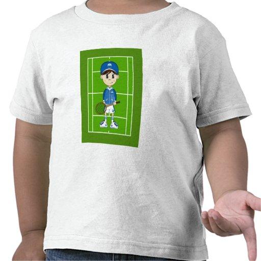 Cute Tennis Boy Tee