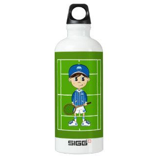 Cute Tennis Boy Water Bottle