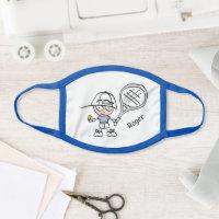 Cute tennis cartoon boy's face mask for kids