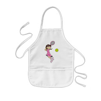 Cute Tennis Girl Apron