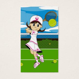Cute Tennis Girl Bookmark Business Card