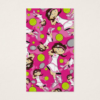 Cute Tennis Girl Bookmark Business Card