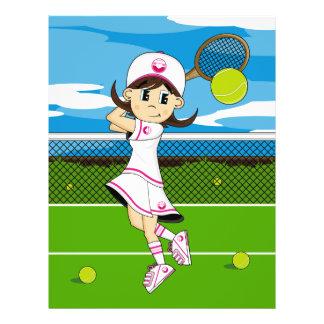 Cute Tennis Girl Flyer