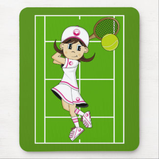 Cute Tennis Girl Mousepad