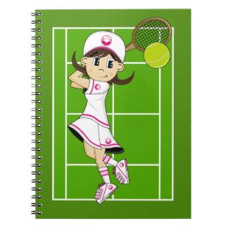 Cute Tennis Girl Notebook