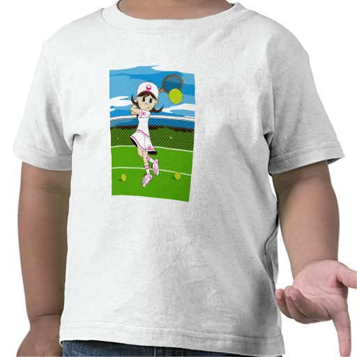 Cute Tennis Girl Tee