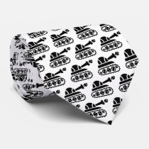 Cute tennis tank neck tie for player or coach dad