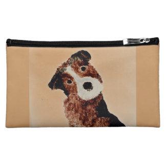 Cute Terrier Dog Art Cosmetic Bag