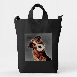 Cute Terrier Dog Art Duck Bag