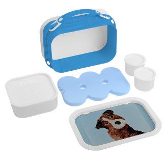 Cute Terrier Dog Art Lunch Box