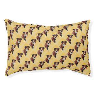 Cute Terrier Dog Art Pet Bed