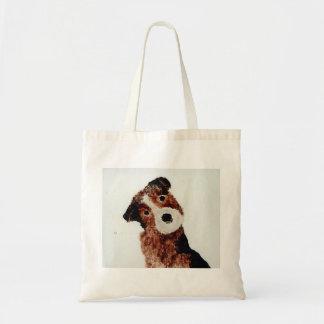 Cute Terrier Dog Art Tote Bag