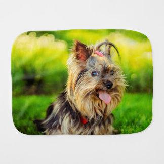 Cute terrier dog baby burp cloth