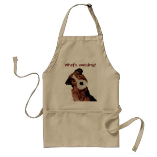 Cute Terrier Dog Cook Adult Apron