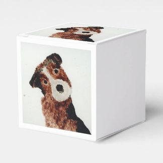 Cute Terrier Dog Favor Box